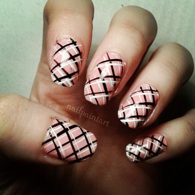 Plaid nails nail paint art picture prinsesfo Choice Image